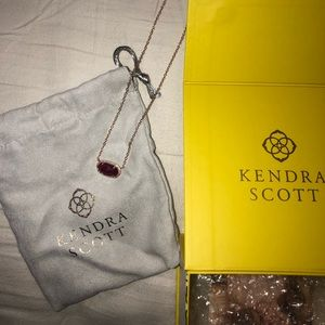 Kendra Scott Necklace maroon BRAND NEW